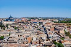Landscape view of Toledo, Spain. royalty free stock image