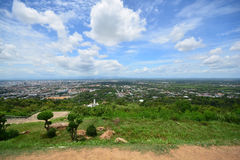 Landscape view from top of mountain, Songkhla, Thai. Landscape view from top of mountain, Hatyai City. Songkhla, Thailand Royalty Free Stock Photography