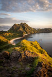 Landscape view from the top of Padar island in Komodo islands, F Stock Photos