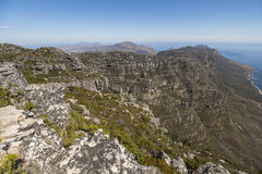 Landscape view from top of the table mountain, Cape Town Royalty Free Stock Images