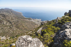 Landscape view from top of the table mountain, Cape Town Royalty Free Stock Photo