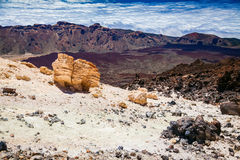 Landscape view from the top of Teide Royalty Free Stock Photo