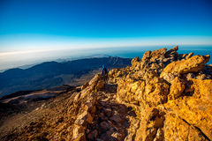 Landscape view from the top of volcano Teide Royalty Free Stock Photography