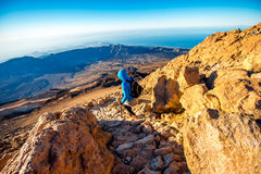 Landscape view from the top of volcano Teide Royalty Free Stock Photos