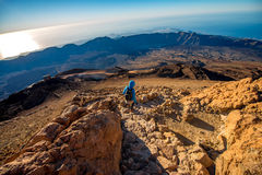 Landscape view from the top of volcano Teide Royalty Free Stock Image