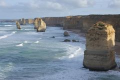 Landscape view the Twelve Apostles Great Ocean Road in Victoria Australia. Landscape view the Twelve Apostles at Port Campbell National Park along the Great stock image