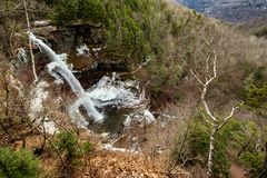 Landscape view of the Upper Falls at Kaaterskill Falls stock image