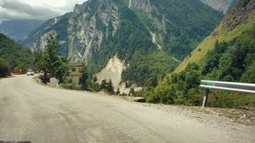 Landscape view of uttrakhand. Traveling and taking photos in the road of uttrakhand Stock Images