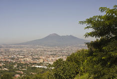 Landscape view of the Vesuvio Royalty Free Stock Images