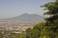 Landscape view of the Vesuvio Royalty Free Stock Photo