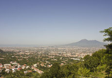 Landscape view of the Vesuvio and neapolitan coast Stock Images