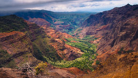 Landscape view of Waimea canyon at sunrise, Kauai, Hawaii Stock Photography