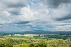 Landscape view of Lampang, Thailand. royalty free stock photo