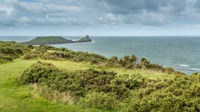 The Worms Head, Rhossili, South Wales, UK. Royalty Free Stock Photo