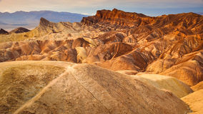 Landscape view of Zabriskie point in Death valley desert Stock Photos