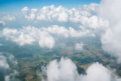 Landscape viewed from airplane Stock Image