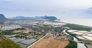 Landscape viewpoint at Khao Daeng Royalty Free Stock Photography