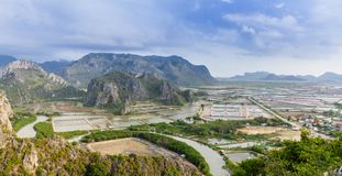 Landscape viewpoint at Khao Daeng Stock Photo