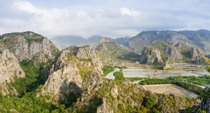 Landscape viewpoint at Khao Daeng Stock Images