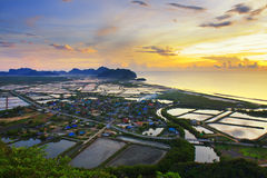 Landscape viewpoint at Khao Daeng ,Sam Roi Yod Royalty Free Stock Image