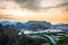 Landscape viewpoint at Khao Daeng ,Sam Roi Yod national park Stock Images