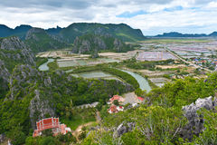 Landscape viewpoint in thailand Stock Image