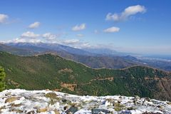 Landscape views of mountains in Spain Stock Images