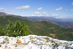 Landscape views of mountains in Spain Stock Photos