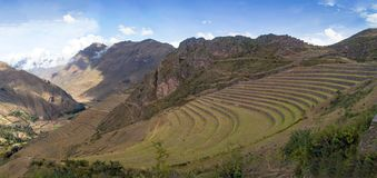Landscape views in the Sacred Valley of Peru royalty free stock photo