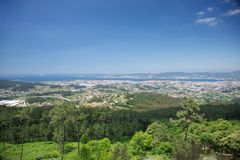 Landscape of Vigo city Royalty Free Stock Photo