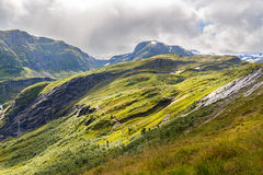 Landscape at The  Vikafjellsvegen National Tourist Route Stock Photography