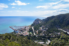 Landscape of the village of Garraf. From The Natural Park of Garraf in Barcelona, Catalonia Stock Photos
