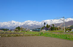 Landscape of the village of Hakuba Stock Image