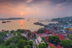 Landscape village on Koh Sichang Chonburi province Stock Photography