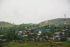 Landscape of village in  Sangkhlaburi, Kanchanaburi, Thailand Stock Photos