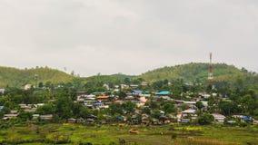 Landscape of village in  Sangkhlaburi, Kanchanaburi, Thailand Royalty Free Stock Image