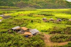 Landscape of village in  Sangkhlaburi, Kanchanaburi, Thailand Royalty Free Stock Images