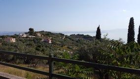 Landscape Villas in Europe/Mediterranean/Greece royalty free stock photo