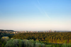 Landscape of Vilnius ir late Spring. Royalty Free Stock Image