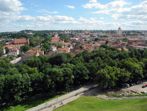 Landscape of Vilnius, Lithuania. Royalty Free Stock Photos