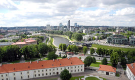 Landscape of Vilnius, Lithuania. Royalty Free Stock Images
