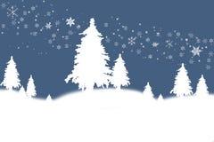 landscape vintern stock illustrationer