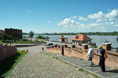 Landscape in Vistula river. Stock Photography