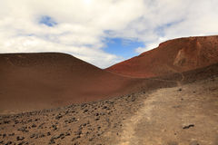 Landscape of volcanic hills on Faial Island, Azores Stock Photography