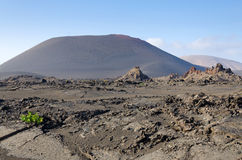 Landscape after volcano eruption Stock Images