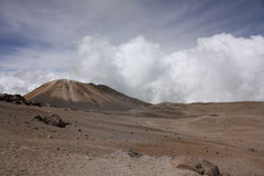 Landscape with volcano. Moor. Andean Royalty Free Stock Images