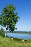 Landscape on the Volga River. Review from the Zhiguli Hills Stock Images