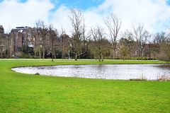 Landscape of Vondelpark Amsterdam Holland Royalty Free Stock Photography