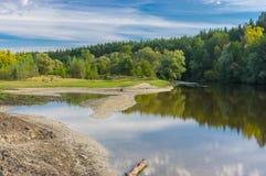 Landscape with Vorskla river in central Ukraine Royalty Free Stock Photography