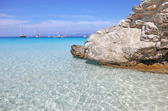 Voutoumi beach Antipaxos island Greece Royalty Free Stock Photos